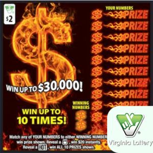 VA Lottery Scratch Off Codes