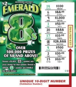 Missouri Lottery Scratch Off Codes