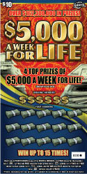 FL $5,000 A Week For Life Scratch Off