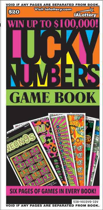 Iowa Lucky Numbers Game Book Scratch Off