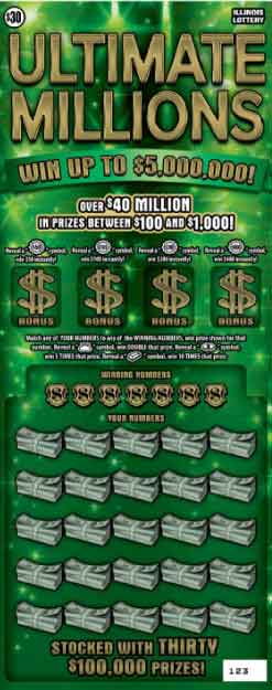 IL Ultimate Millions Scratch Off