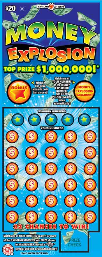 MD Lottery Money Explosion Scratch Off