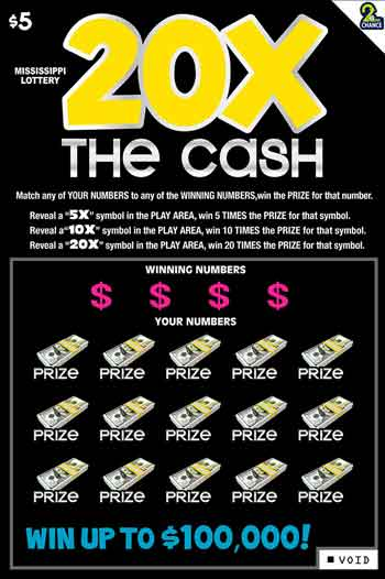 Miss Lottery 20X the Cash Instant Game