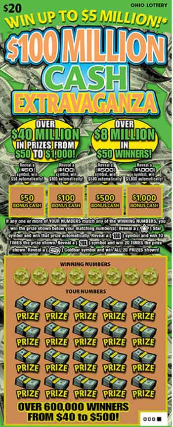OH Lottery $100 Million Cash Extravaganza
