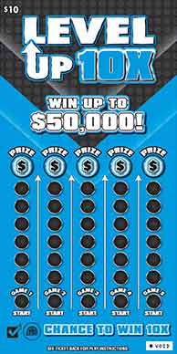 WV Lotto Level Up 10X Scratch Off